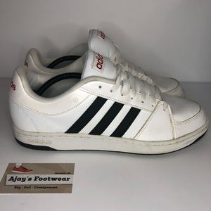 Adidas White Mens Athletic Gym Sneaker Shoes